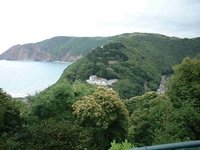 From Lynton, looking over Lynmouth..